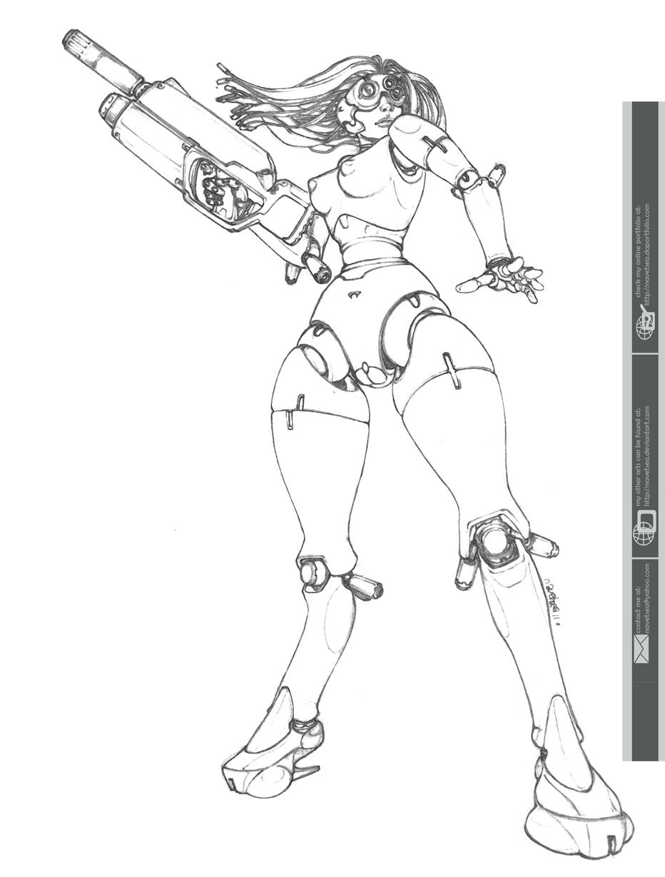 Mechanical Huntress 2 by Navetsea