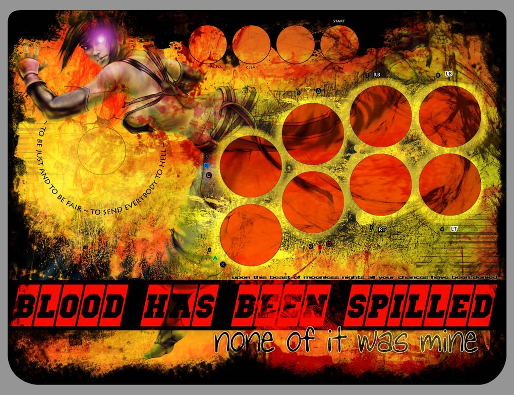 Mayflash arcade stick art (juri fanart fiery) by Navetsea