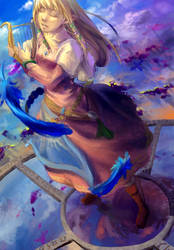 Skyward Sword Zelda by Zombeh-Sakana