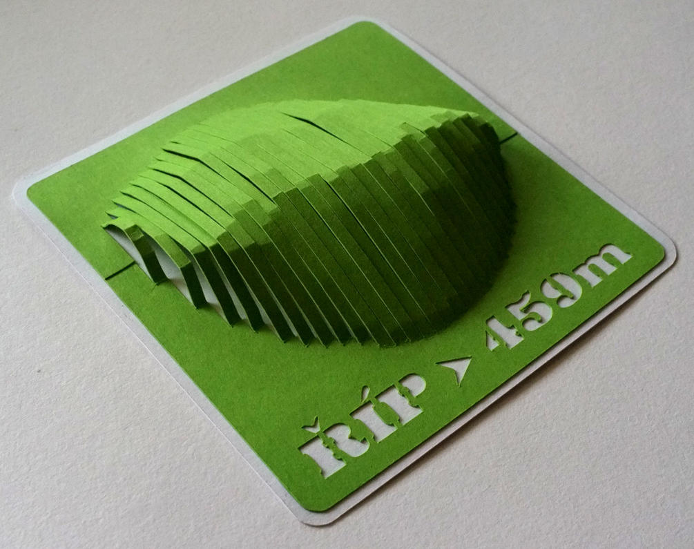 3D Paper Model Of Rip Mountain Czech Republic By Petervojtek