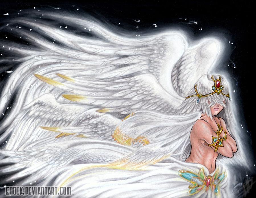 Flowing Angel by Enock