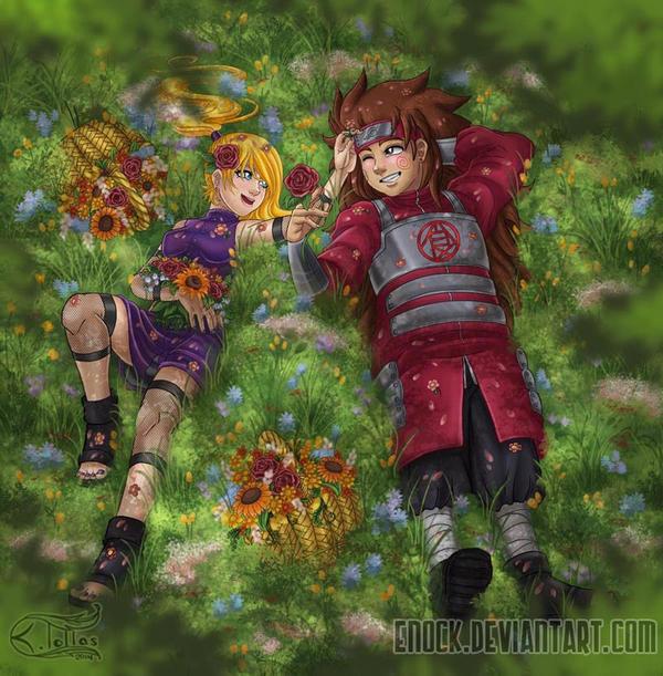 Ino and Choji by Enock