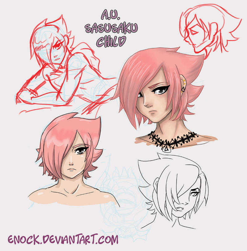 Pink Uchiha by Enock
