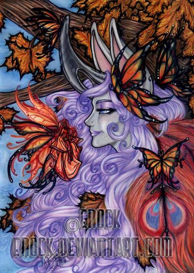 Autumn Butterflies by Enock