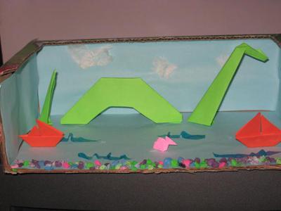 loch ness origami by linzero on deviantart