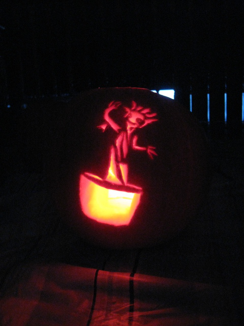 Dancing Pumpkin Groot by Linzero