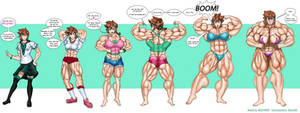 Shiyomi, the ever growing muscle girl!