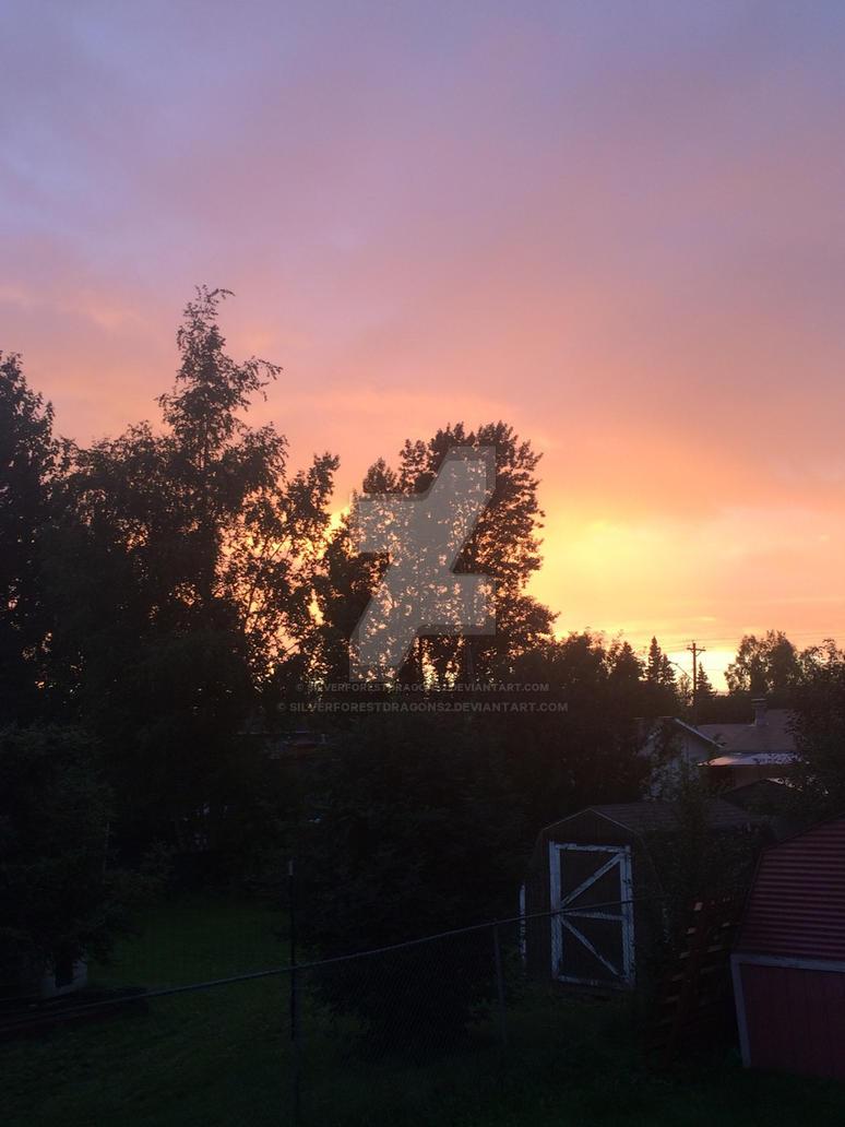 Orange Sunset in Anchorage Alaska by silverforestdragons2