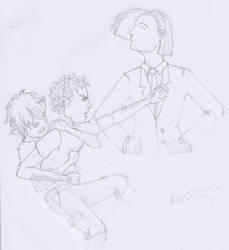 George vs Dash by theblindartist