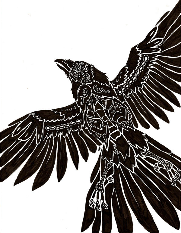 Norse Raven Design Flight of Bran by Anima-Lux-