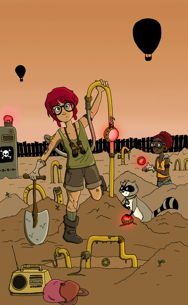 Wasteland by Mechouille