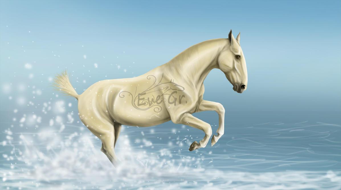 galop dans l'eau by EVEGR
