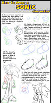 3. How to draw a Sonic chara