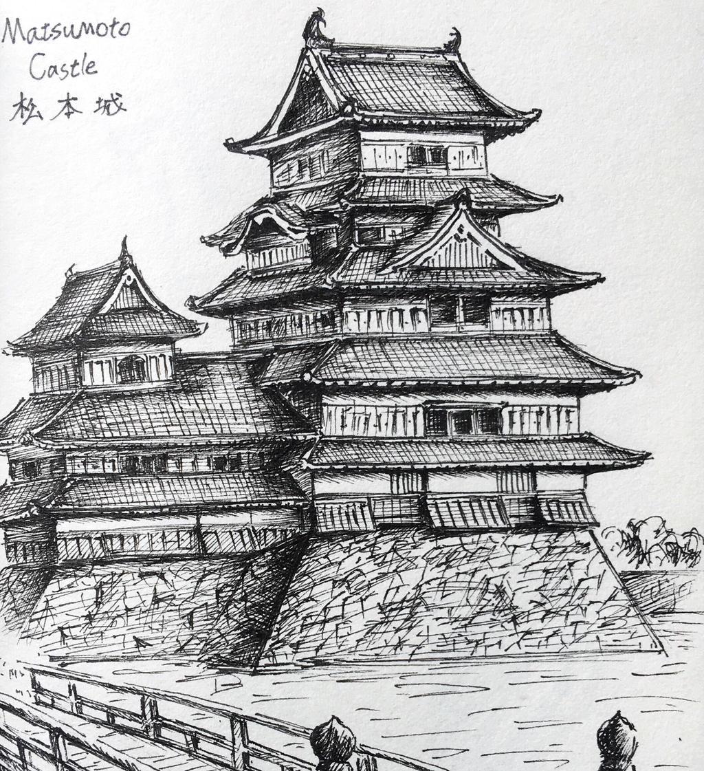 japanese castle matsumoto castle by easonhou - Traditional Castle 2016