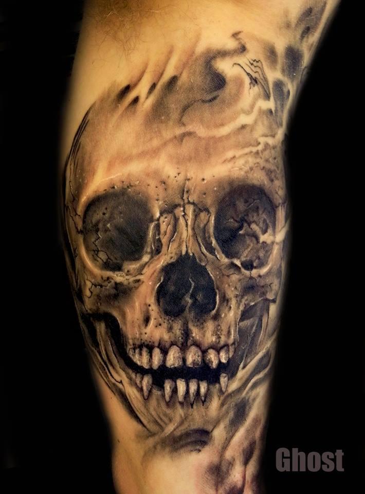 skull tattoo by mil5 on DeviantArt