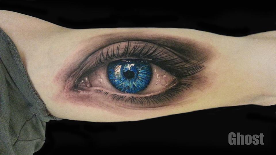 realistic eye tattoo by mil5 on deviantart. Black Bedroom Furniture Sets. Home Design Ideas
