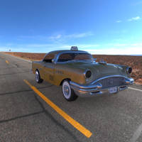 Buick Century Taxi on the Road by VanishingPointInc