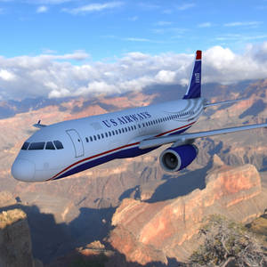 Airbus A320 Over a Canyon