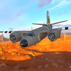 B26 Over a Canyon