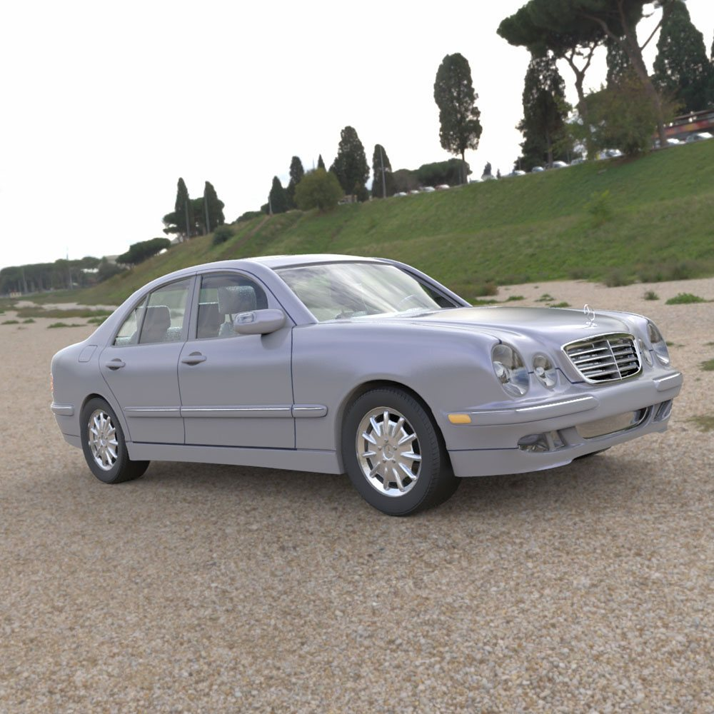 Mercedes Benz E320 in a Field by VanishingPointInc