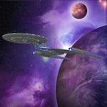 USS Discovery Leaving Orbit