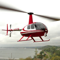 News Helicopter In Flight