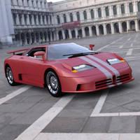 Bugatti EB 110 In a Square