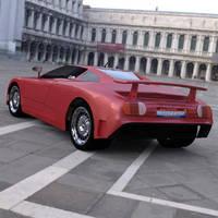 Bugatti EB 110 In a Square 2