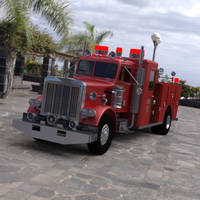 Firetruck in a Parking Lot