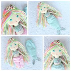 Pastel Mermaid Doll by Dasha-Svetlaya