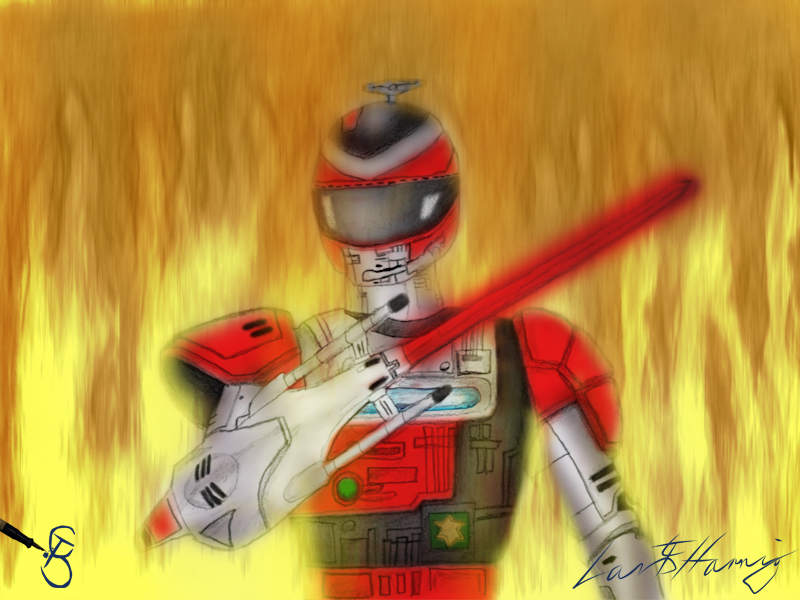 Fire Tector Drawing Colored by Starcat666