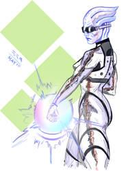 Asari NSC fanart by ExevaloN