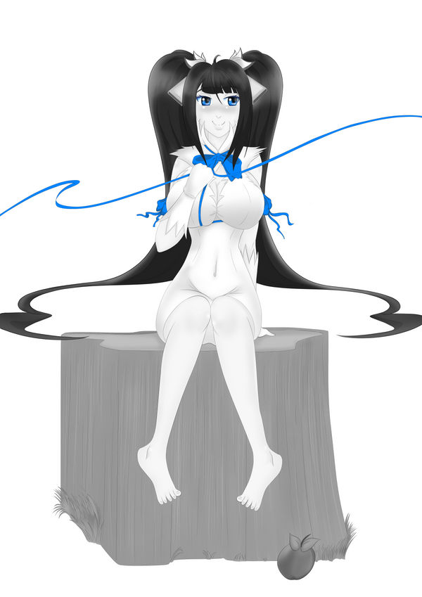 Danmachi Comic Front Cover Black and White Version