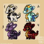 Baby dragons adopts [AUCTION OPEN] by ImaginaryMage