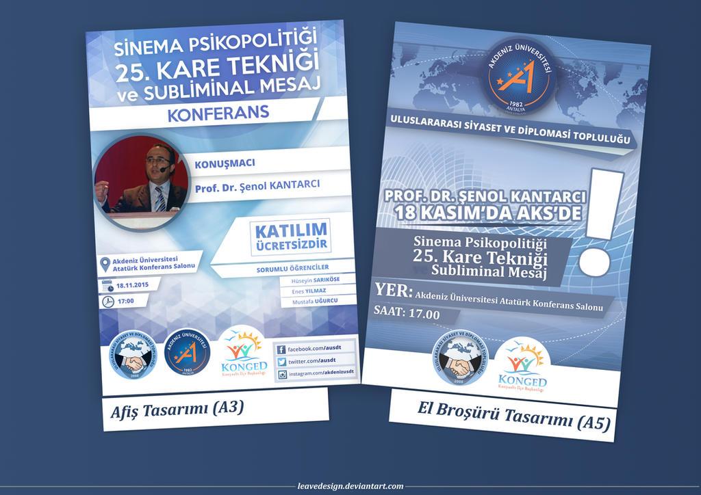 Akdeniz Universitesi USDT Konferans Afis / El Bros by leavedesign