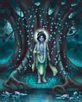 Krishna and fireflies