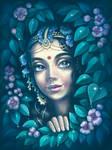 Radha watching her eternal lover Krishna