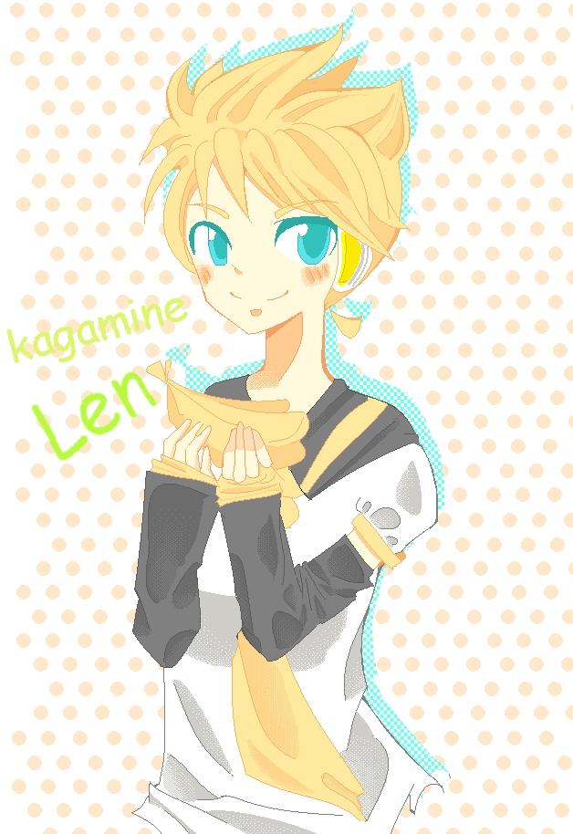 Len funny hair by IDK-kun
