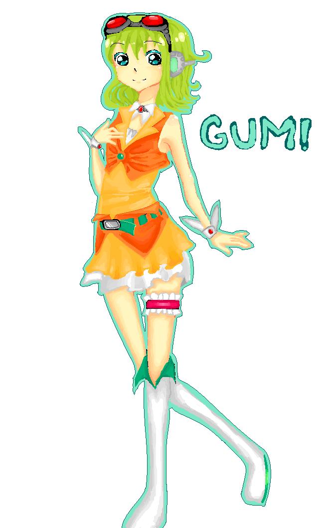 MS PAINT: GUMI by IDK-kun