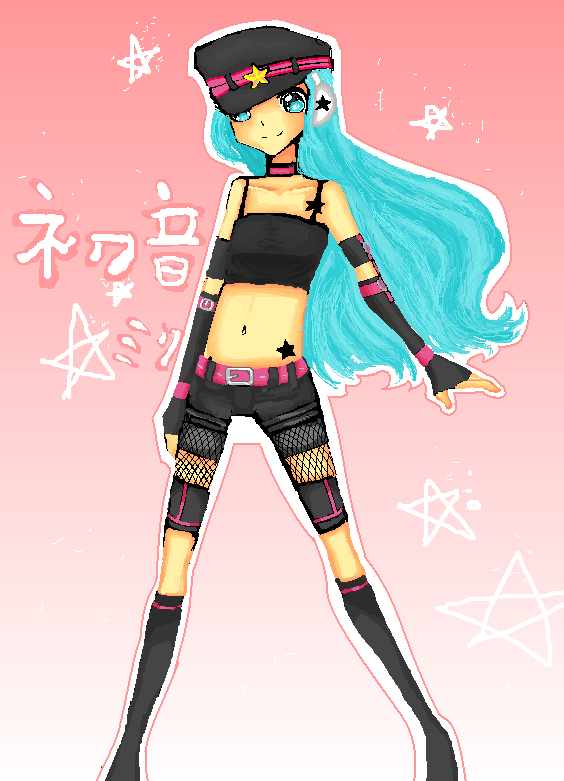 punk miku by IDK-kun