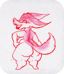 Fox Butt by azumaril