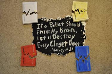 Harvey Milk Poster - Bullet by naivebassoon