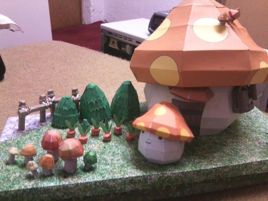 Papercraft - Mushroom House by Icedragon300
