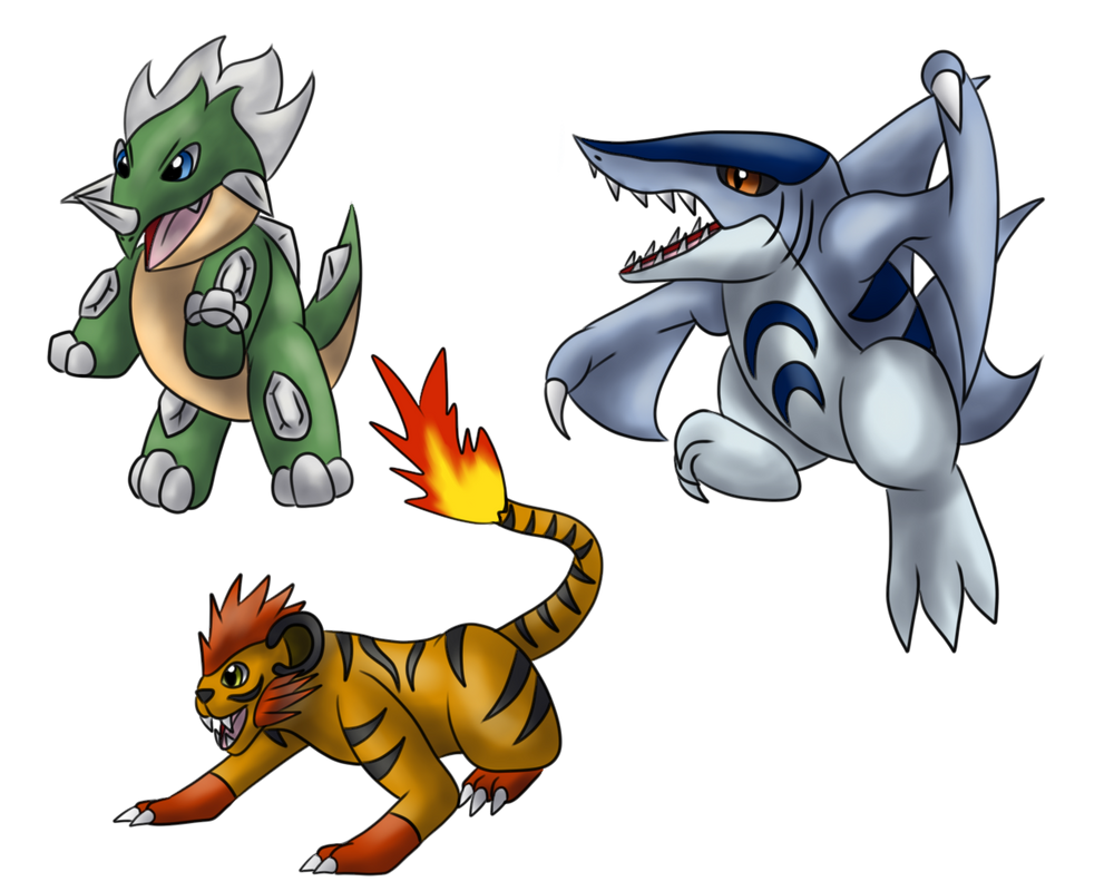 Fakemon Starters - First Evolution by Icedragon300 on ...