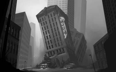 Flooded City by MDiemeer