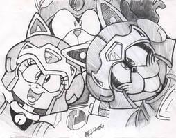 Samurai Pizza Cats Trio by MEL-Dungeon