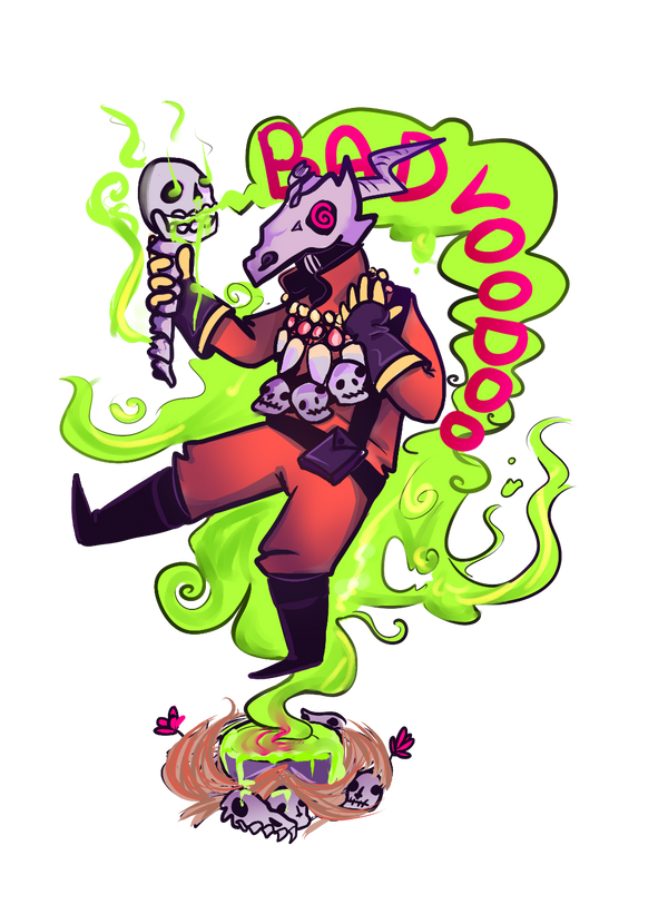 GREEN BAD VOODOO by MrsBlitzkrieg