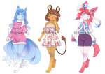 [OPEN] Fairy Pokemon Girls adoptable by 12irinchan