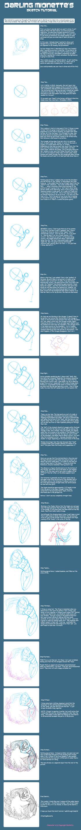 Sketch Tutorial by DarlingMionette