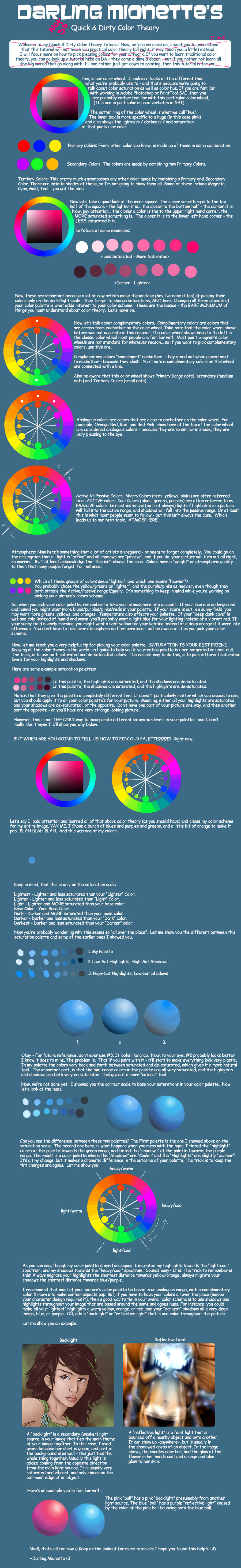 Quick and Dirty Color Theory by DarlingMionette
